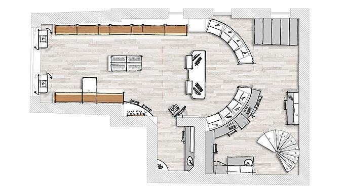 layout arredo negozio