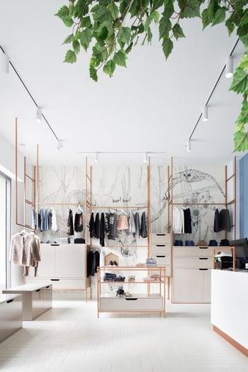 arredo negozio moderno
